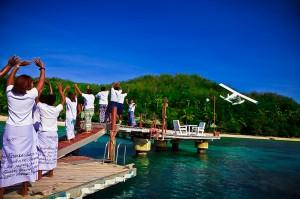 pacific island seaplane departure
